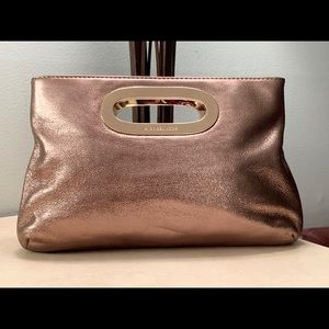 MICHAEL KORS Berkley Gold Large Clutch Purse
